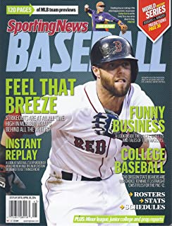 Sporting News 2014 Baseball Yearbook (Region 1-New England - Dustin Pedroia Cover)