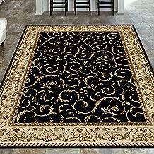 Radici 1599 COMO Rugs, 7-Feet 9 by 11-Feet, Black