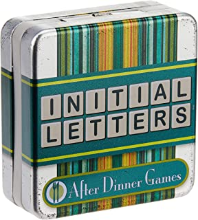 Cheatwell After Dinner Cards Game in Mini Tin, Initial Letters