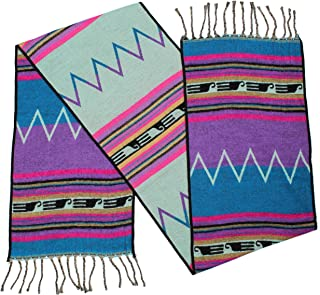 """Rustic Covenant """" Western Scarves Collection """" Southwest Fashion Scarf for Women, Zuni Zig Zag Purple, 12 Inches by 72 Inches"""
