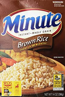 Minute Brown Rice 10 minute Instant Whole Grain Rice 14 oz (pack of 2)