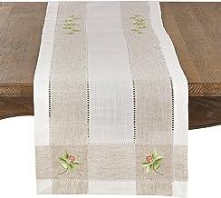 أغطية طاولة من مجموعة هومماج برودي من سارو لايف ستايل، 38 سم × 177 سم، لون عاجي