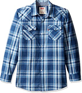 Levi's Boys' Big Plaid Western Shirt