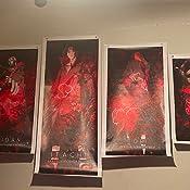 SFXYJ 5 Pi/èces Mur Art Akatsuki Naruto Anime Affiche Mur D/écor Peintures Uchiha Itachi Animation Art Jeu Toile Peintures,A,20/×30/×2+20/×40x2+20x50/×1