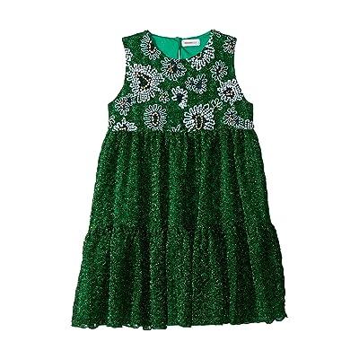 Missoni Kids Lace Lame Unito Dress (Big Kids) (Green) Girl