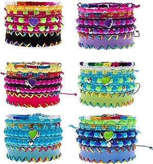 30 PCs Friendship Bracelets for Girls, Teens, Women - Handmade Woven VSCO Friendship Bracelet Bulk Set with 12 Party Favor Bags - Great for Gifts, Giveaways, Birthdays, Pinatas