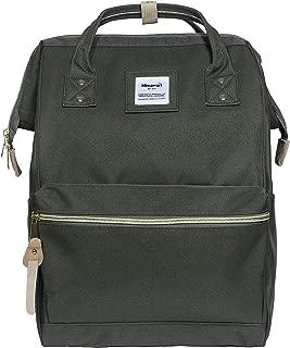 Polyester Backpack Unisex Vintage School Bag Fits 13-inch laptop Green