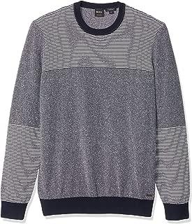 BOSS Orange Men's Kapowe Long Sleeve Crewneck Striped Sweater