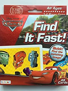 Disney Cars Find It Fast! Card Game (48 Cards - All Ages)