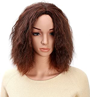 Onedor 13 Inch Natural Curly Kinky Full Head Cosplay Costume Wig (2T30T33)