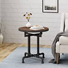 Christopher Knight Home Cytheria Industrial Faux Wood End Table, Dark Brown/Black