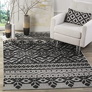 Safavieh Adirondack Collection ADR107A Silver and Black Rustic Bohemian Area Rug (8' x 10')