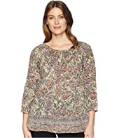 3/4 Paisley Cotton Shirt