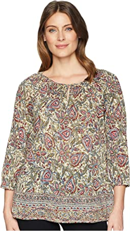 3/4 Paisley Cotton Shirt