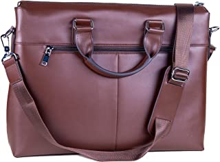 UsefulThingy Laptop Bag Leather for Men or Women - fits 13 14 15 inch Laptops MacBooks - 2 Colors Black, Brown