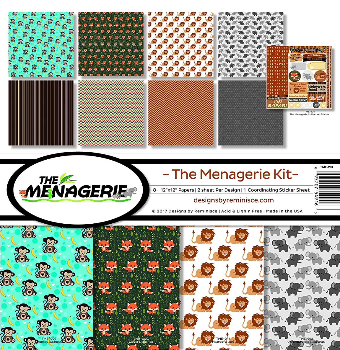 Reminisce The The Menagerie Scrapbook Collection Kit 2
