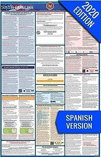 2020 South Carolina (Spanish) Labor Law Poster – State, Federal, OSHA Compliant – Single Laminated Poster
