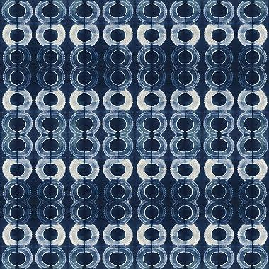 PBS Fabrics Diamond Shibori, Indigo