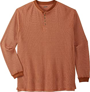 KingSize Men's Big & Tall Waffle-Knit Thermal Henley Tee