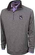 Vesi NCAA Men's Herringbone Quarter Zip, Charcoal/Gray, X-Large