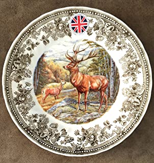 Queen's Salad Plates Quintessential Game Collection / Set of 4 (Stag)