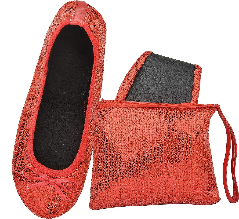 Rolly Flats Bailarinas Plegables con Bolsa de Transporte para Mujer
