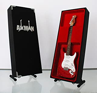 Gary Moore (Thin Lizzy): Distress 1961 Fiesta Red Fender Stratocaster - Réplica de guitarra en miniatura
