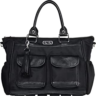 Itzy Ritzy Triple Threat Convertible Diaper Bag – Converts from a Tote to a Messenger Bag to a Backpack Diaper Bag; Includes 13 Total Pockets, Matching Stroller Straps & Changing Pad, Black