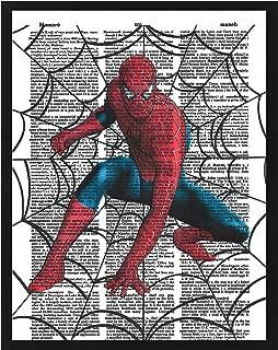 Signature Studios Spiderman Superhero Marvel Comic Dictionary Art Photo 8x10