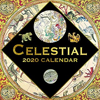 2020 Wall Calendar - Celestial Calendar, 12 x 12 Inch Monthly View, 16-Month, Includes 180 Reminder Stickers