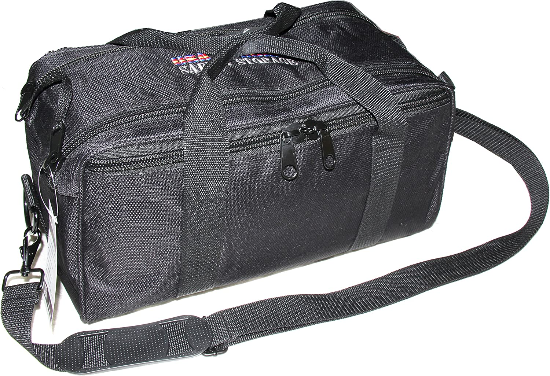USA GunClub Range Bag with Removable Hook & Loop Dividers, Black, Medium