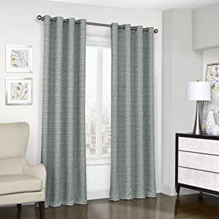 """ECLIPSE Blackout Curtains for Bedroom - Trevi 52"""" x 95"""" Thermal Insulated Single Panel Grommet Top Room Darkening Curtains..."""