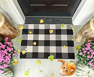 Buffalo Plaid Checkered Rug by SGallerie - Black & White 23.6