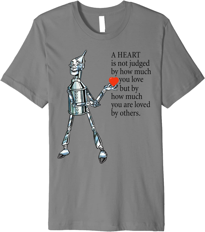 Tin Man T-shirt Tin Man Heart Wisdom Cute Wizard of Oz Shirt