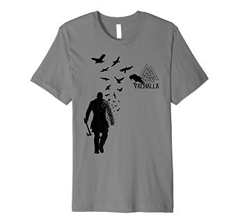 8de0cf24 Image Unavailable. Image not available for. Color: Viking Ragnar Lodbrok  Valhalla Odin Ravens Tee Shirt