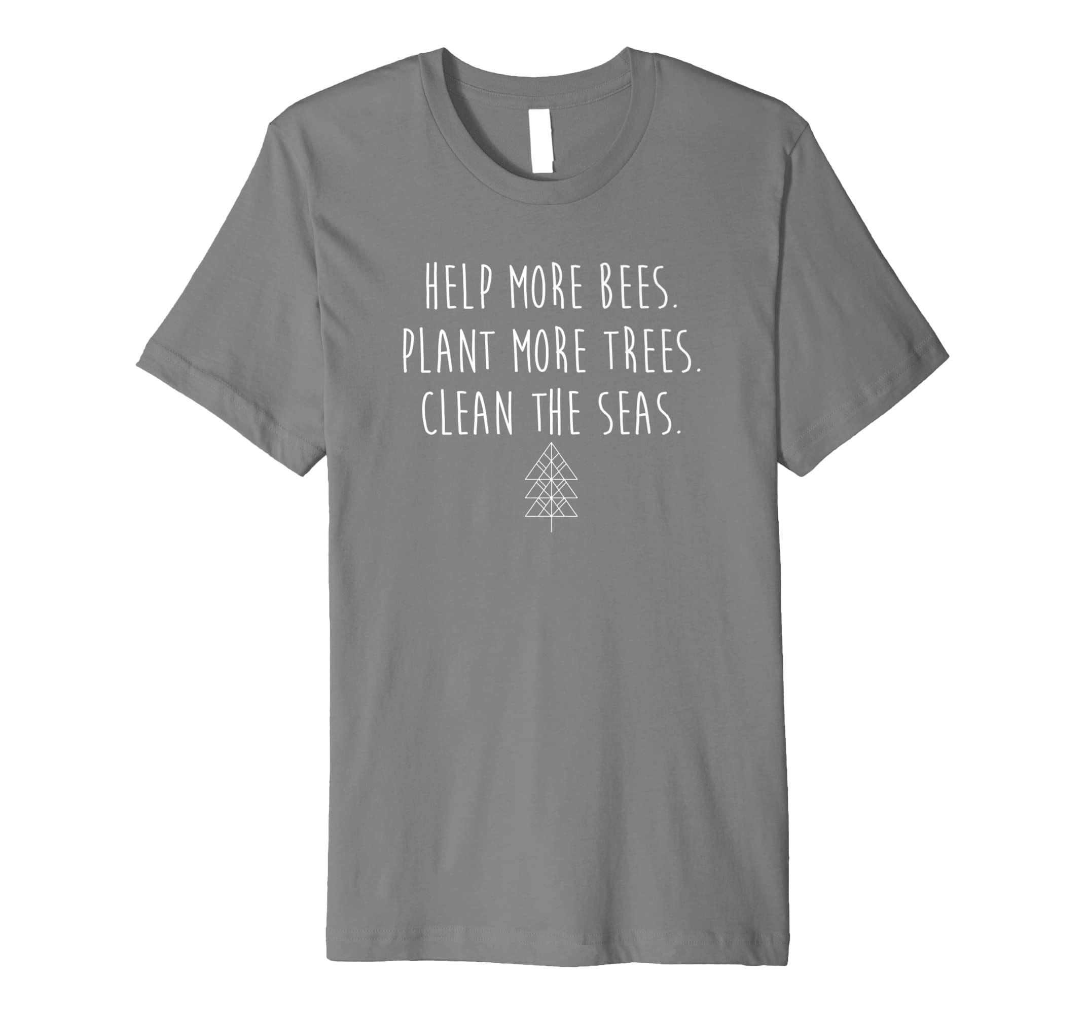 fd447b006 Help More Bees Plant More Trees Clean The Seas T-Shirt: Amazon.co.uk:  Clothing