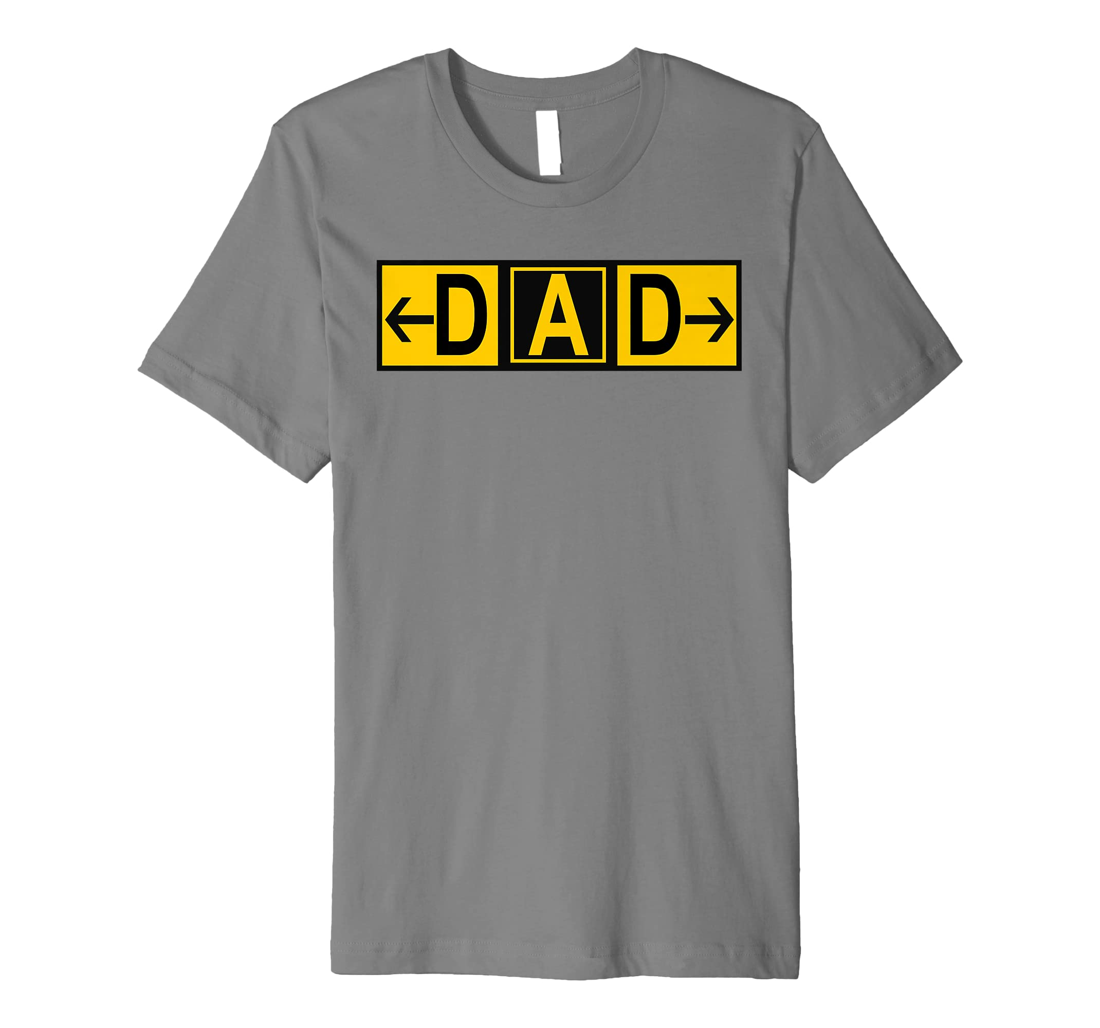 Mens DAD Airport Taxiway Sign Pilot Father's Day 2019 Premium T-Shirt-Protee
