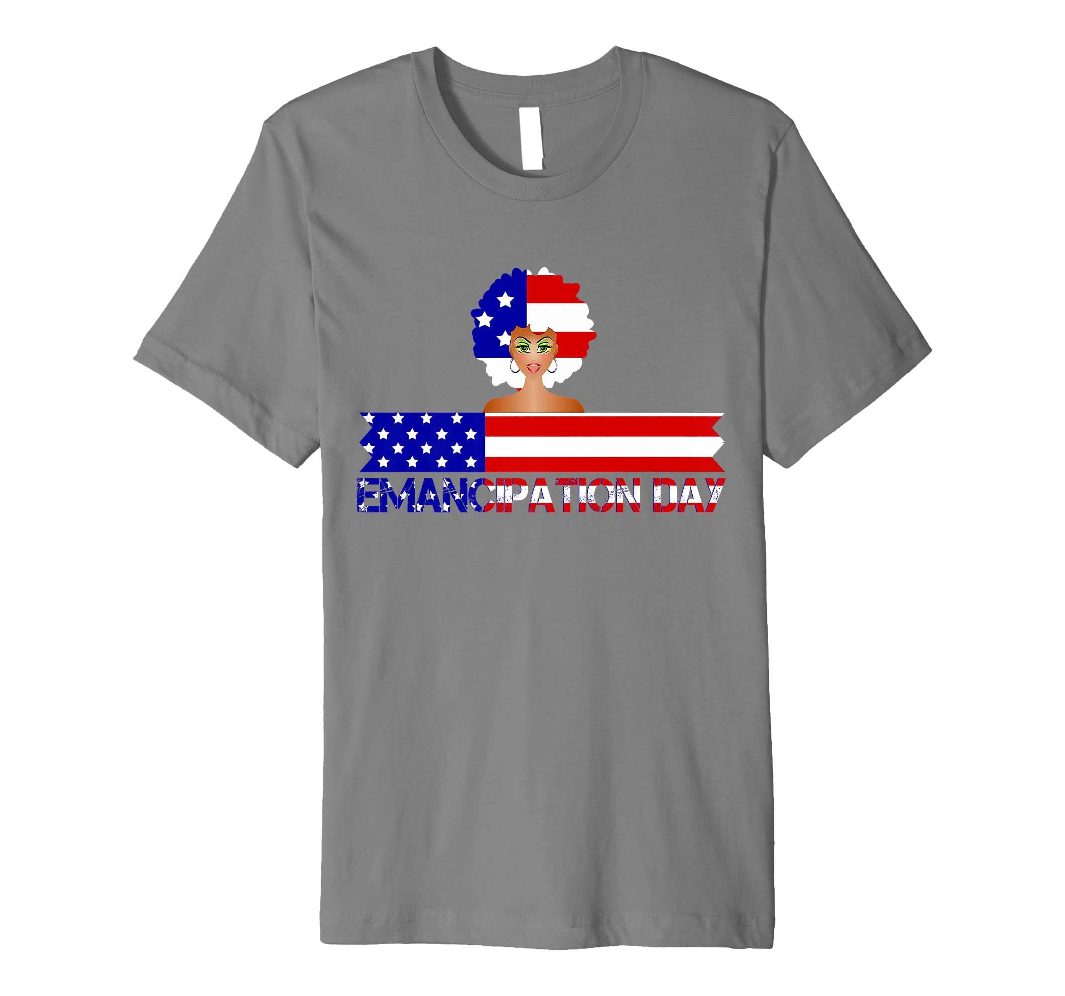 4th Of July Patriotic Emancipation USA Flag T-Shirt-SFL