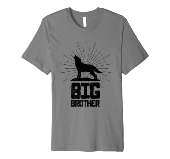 Amazon Big Brother Wolf T Shirt Birthday Gift For Older