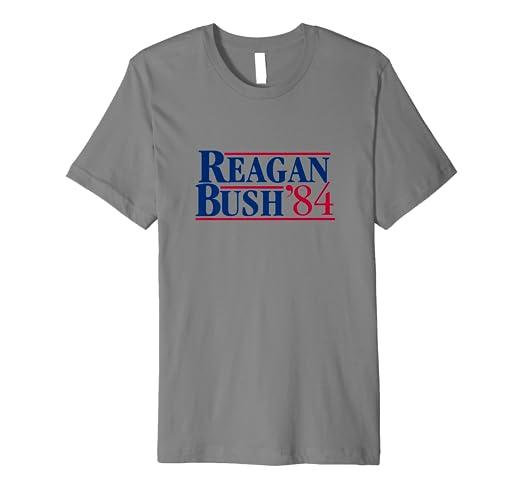 41cc0528 Amazon.com: Reagan Bush 84 Campaign T-Shirt: Clothing