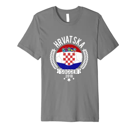 Image Unavailable. Image not available for. Color  Hrvatska Croatia 2018  Soccer Team Fan Jersey Premium T-Shirt 0f2650639