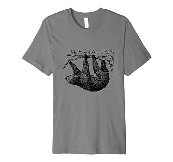 742498db Amazon.com: My Spirit Animal Cute & Funny Sloth T-Shirt: Clothing