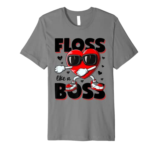 8d5313c6 Image Unavailable. Image not available for. Color: Floss Like A Boss  Valentines Day T shirt ...