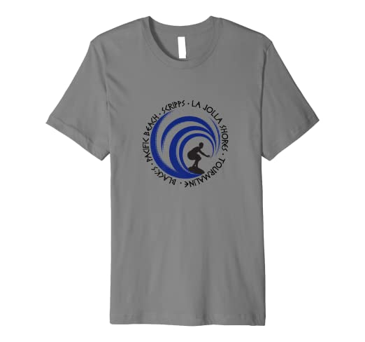 Amazon.com  T Shirt San Diego Surfing Lovers Beach Surf Fans  Clothing f0008ffe00fa