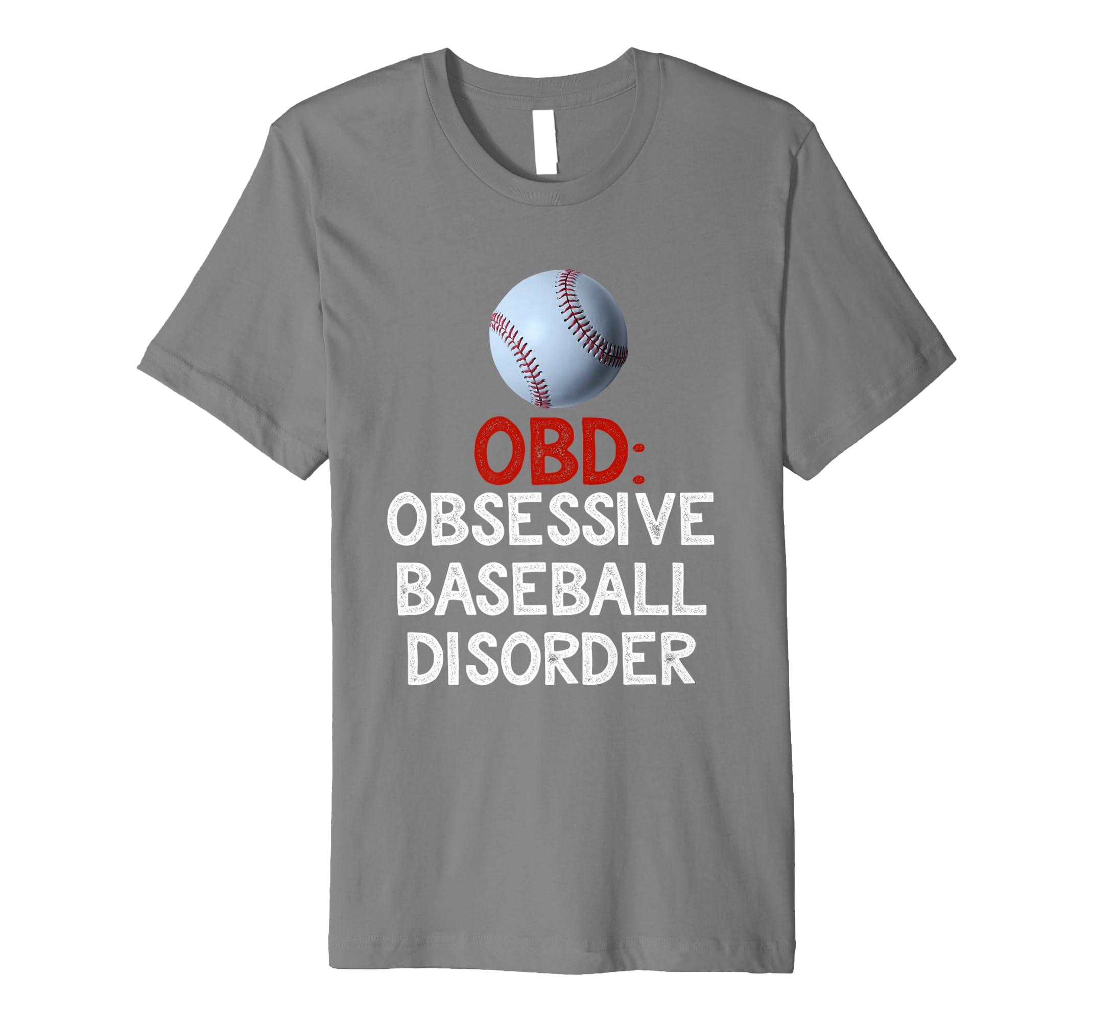 1f0d3dca Amazon.com: Mens Obsessive Baseball Disorder T-Shirt: Clothing