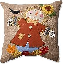 Pillow Perfect Harvest Scarecrow Burlap Throw Pillow, 16.5