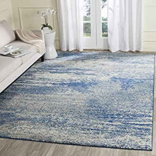 Safavieh Evoke Collection EVK272A Distressed Modern Abstract Navy and Ivory Area Rug (9' x 12')