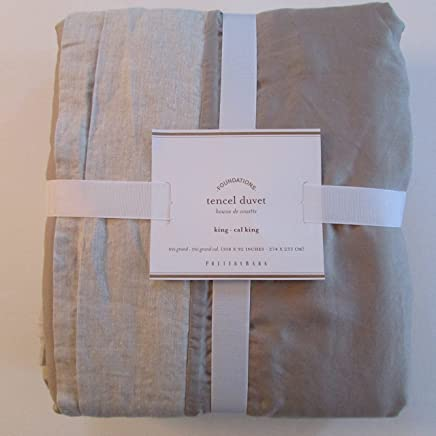 Pottery Barn TENCEL Duvet Cover King/Cali King ~Simply Taupe~