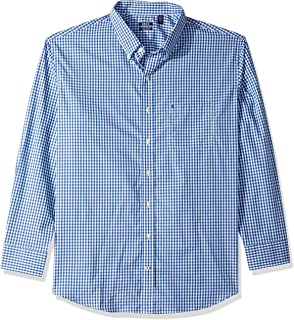 Men's Button Down Long Sleeve Stretch Performance Gingham Shirt