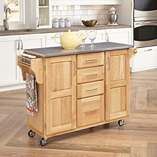 Kitchen Cart with Breakfast bar & Stainless Steel Top by Home Styles